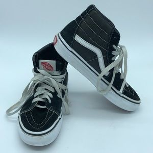 Vans Sk8hi high top black and white sneakers